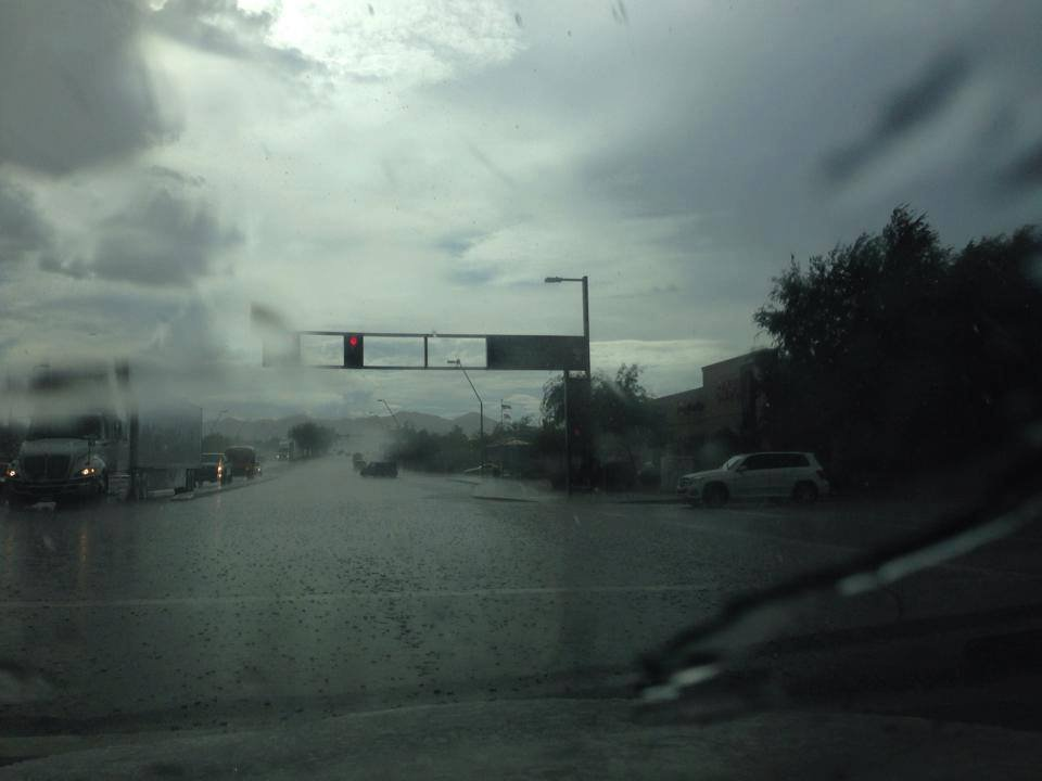 The downpour at Elliot and Priest in Tempe. (Photo credit: Frank Kostyun)