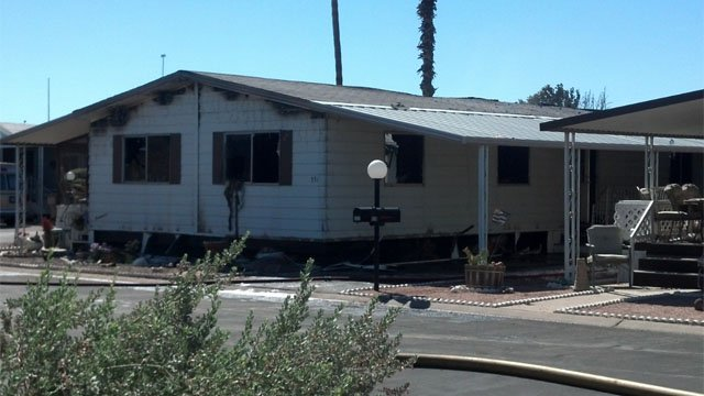It's not known yet what sparked the fire. (Source: Christina Batson, cbs5az.com)