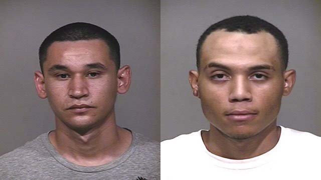 Hector Mendoza and Raymond Vaughn suspects arrested for burglary by Scottsdale police. (Source: Scottsdale Police Department)