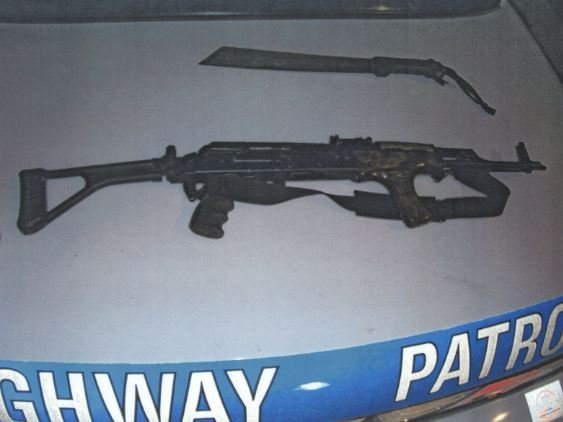 AK-47  found in suspects' vehicle.
