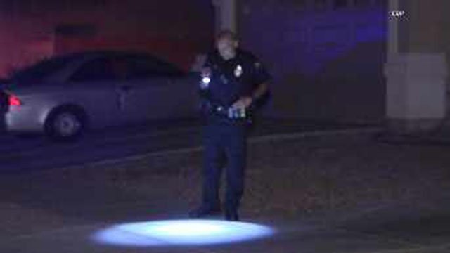 The shooters fled the scene. (Source: CBS 5 News)