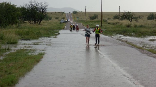 Dutch tourists stranded by flooding in Cochise County. (Source: Cochise County Sheriff's Office)