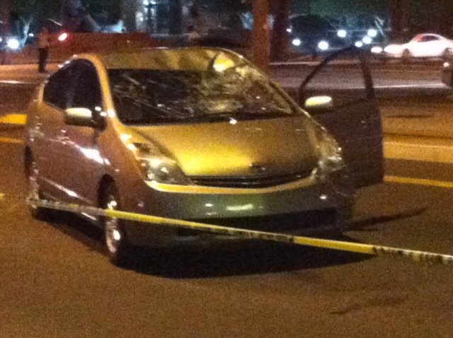 Accident at Central & Thomas Wednesday night. (Source: Sean McLaughlin, cbs5az.com(