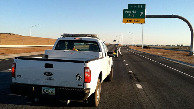 The Arizona Department of Transportation opened three new southbound lanes along Loop 303 between Glendale and Peoria avenues over the weekend. (Source: Arizona Department of Transportation)