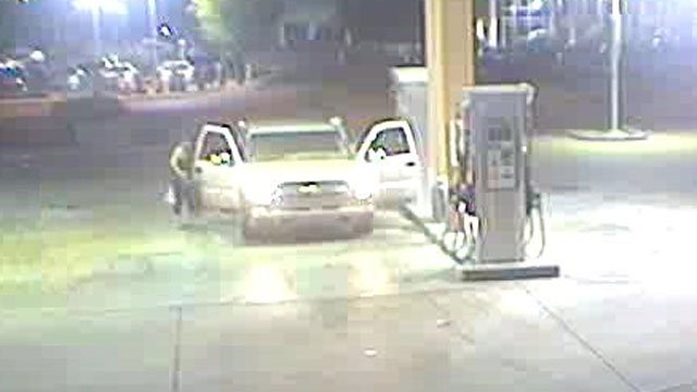 The vehicle is a light-colored Chevy pickup truck. (Source: Silent Witness)