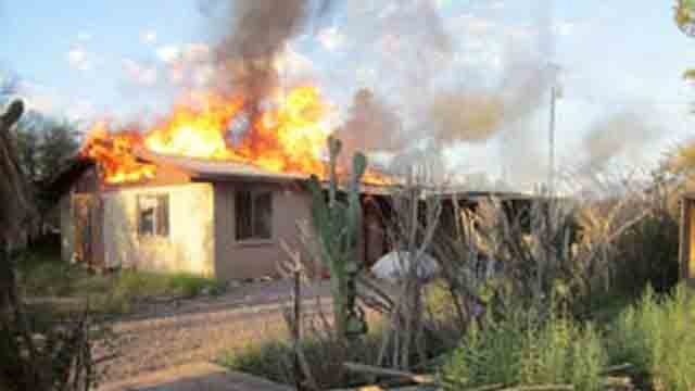One of the homes Damien Soto is accused of setting on fire. (Source: Pinal County Sheriff''s Office)