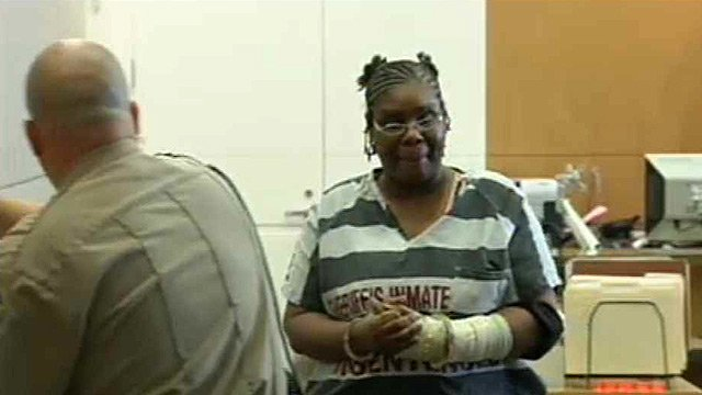 Jerice Hunter in court on Monday, Sept. 23, 2013. (Source: CBS 5 News)