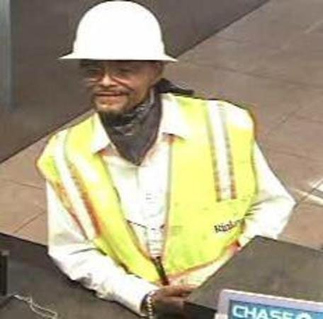 "Surveillance photo of the ""hard hat bandit."" (Source: Chandler Police Department)"