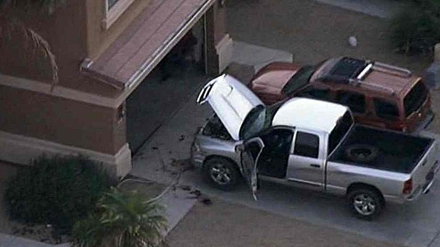 Vargas was working on his truck in the driveway before going to work when he was shot. (Source: CBS 5 News)