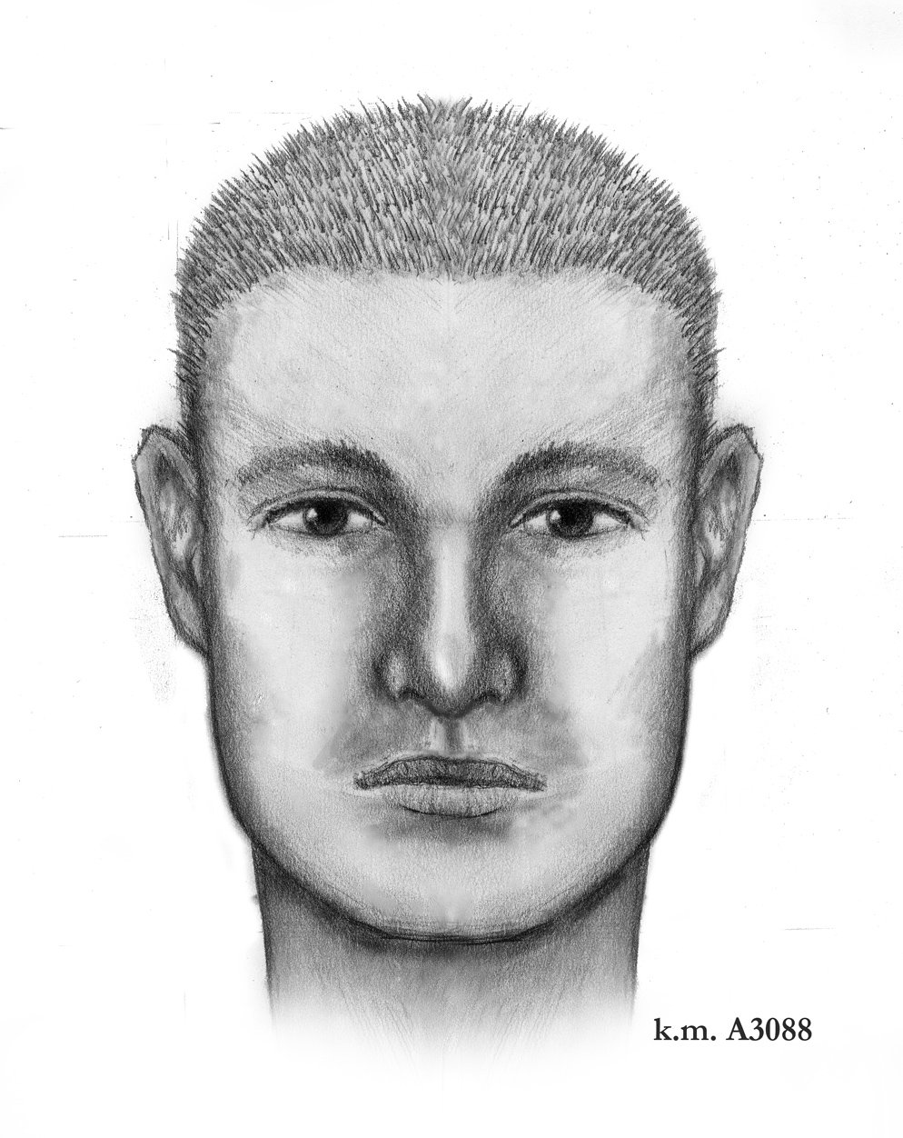 sketch of man believed to have been driving SUV