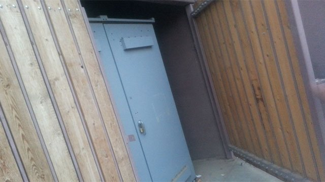 Utility shed where alleged rape occurred. (Source: Shawn Kline, cbs5az.com)