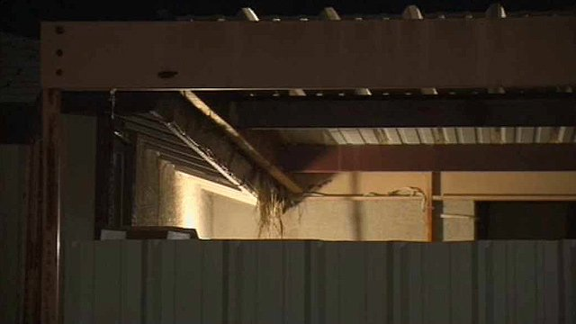 A discarded newborn was found suffering a head injury in a backyard shed in Mesa Sunday afternoon. (Source: CBS 5 News)