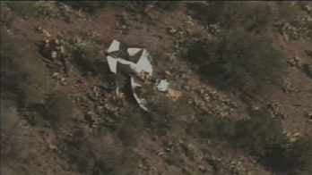 The plane ran off the runway and dropped 200 feet. (Source: CBS 5 News)