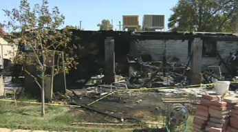 The fire gutted the home at 4608 N. 30 Dr. in Phoenix. (Source: CBS 5 News)