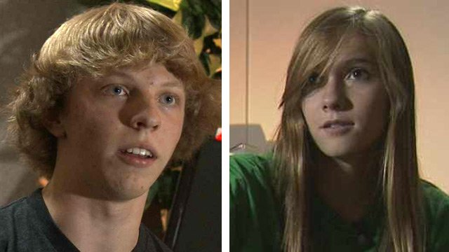 Alex Leiphart and Jessica Atkinson met two years ago in a business class at Desert Mountain High School. (Source: CBS 5 News)