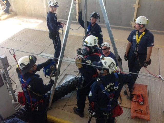 Technical rescue team runs through drills in Phoenix. (Source: Phoenix Fire Department)