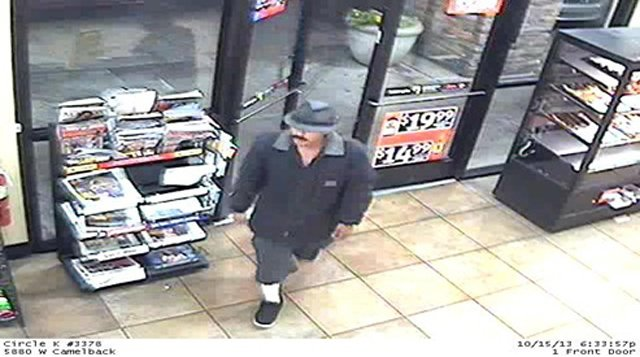 Surveillance image of suspected Circle K gunman. (Source: Glendale Police Department)