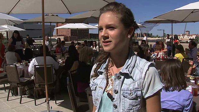 """Rinsley Phelps was bullied for years, but now believes """"The Super Girl"""" program has helped her learn to cope with bullying. (Source: CBS 5 News)"""