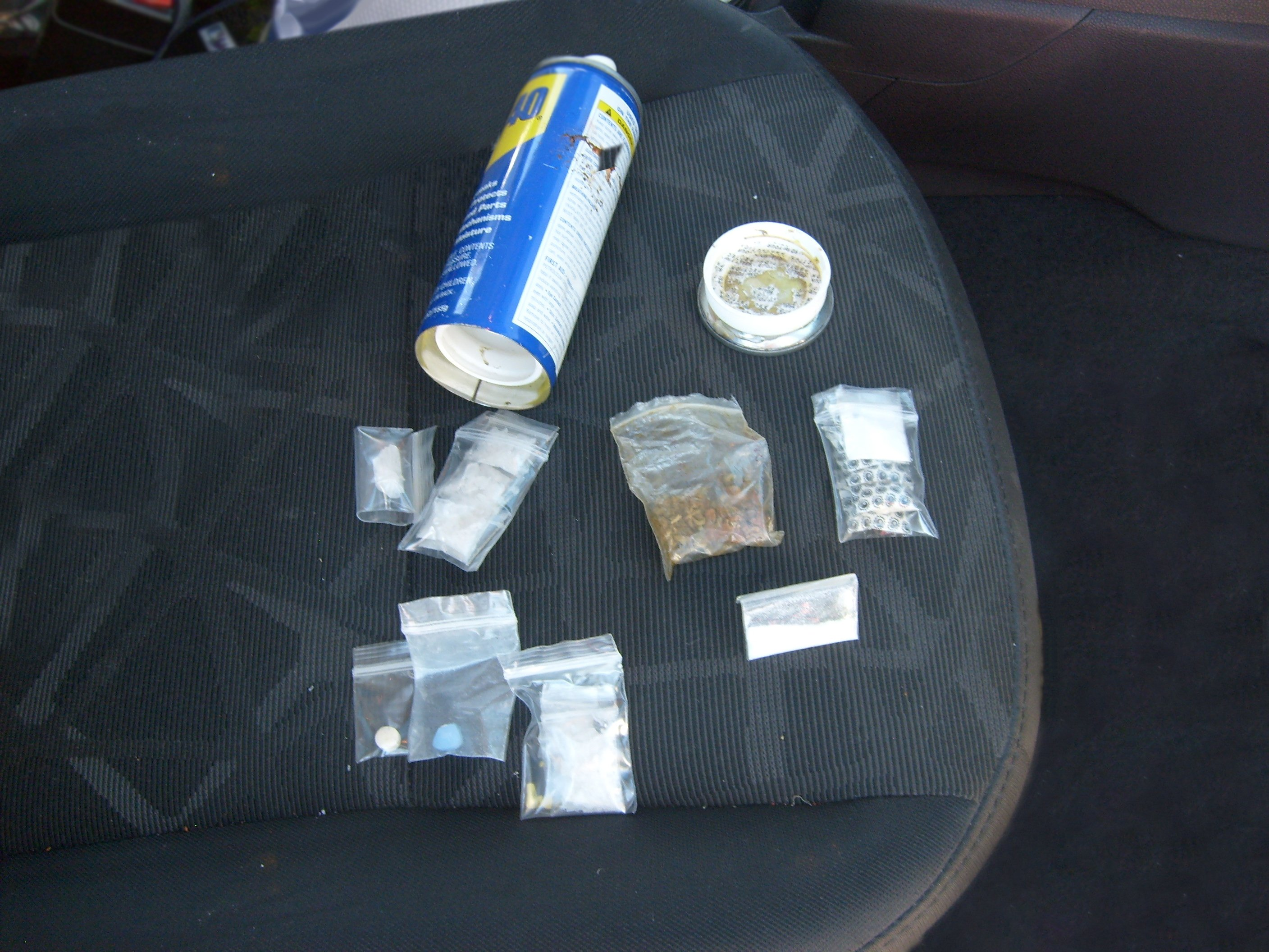 WD-40 can and contraband hidden inside at SR 90 Checkpoint. (Courtesy: U.S. Customs and Border Protection)
