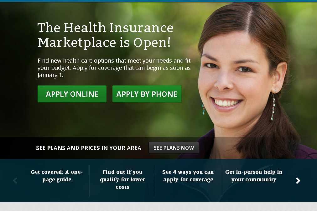 healthcare.gov home page