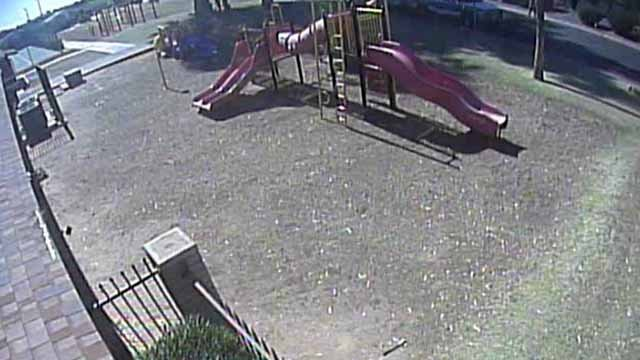 Image from playground surveillance video. (Source: Chandler Police Department)