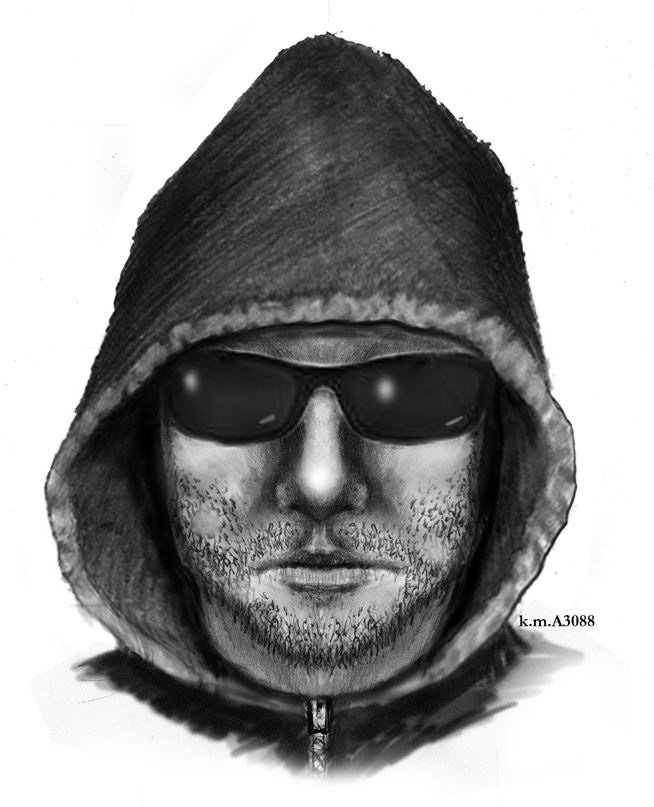 Composite sketch of armed robber. (Source: SIlent Witness)