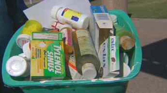Saturday's drug take back event in Arizona. (Source: CBS 5 News)