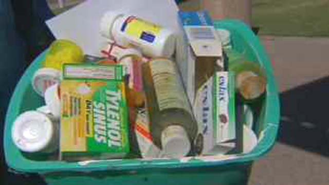 Saturday's drug take back event in Arizona. (Source: CBS 5 News)