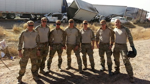 Airmen from the 48th Rescue Squadron at Davis-Monthan Air Force Base