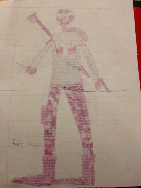 Soldier drawn by 8-year-old.