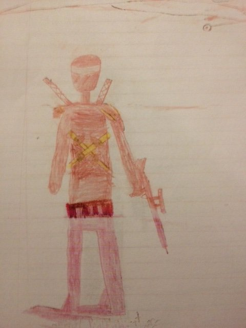 Ninja drawn by 8-year-old.