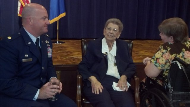 Mrs. Rowe was honored at a retirement ceremony Tuesday. (Source: CBS 5 News)