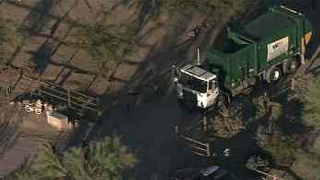 Child hit, killed by recycling truck in Cave Creek. (Source: CBS 5 News)