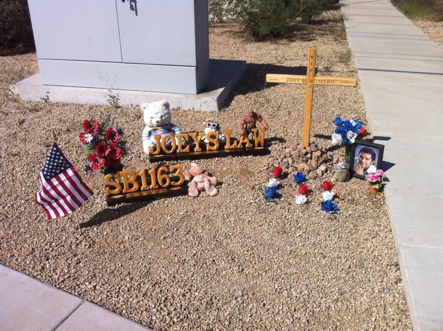 Joey's memorial