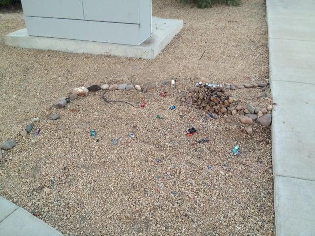 Joey's memorial after the vandalism