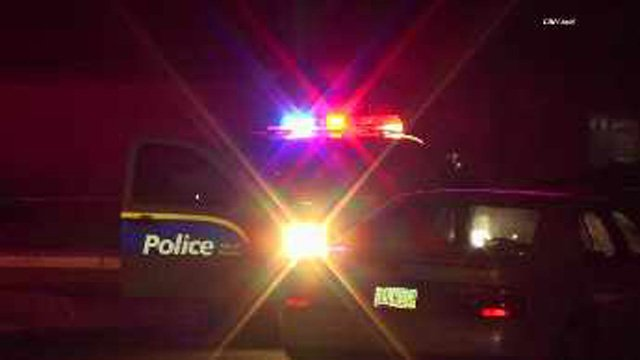 The gunshots sent dozens of people running from the home. (Source: CBS 5 News)