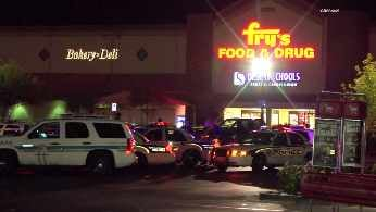 Boy suffers gunshot wound in Fry's Food Store parking lot. (Source: CBS 5 News)