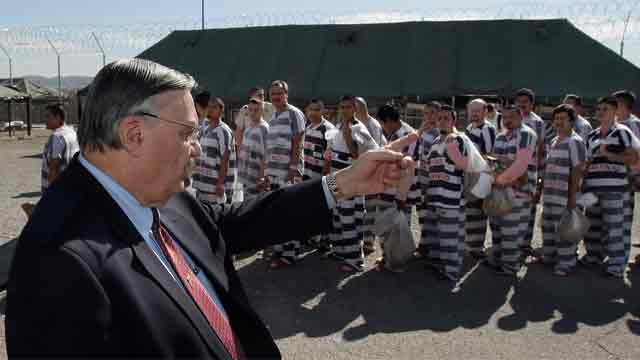 Sheriff Joe Arpaio at Tent City. (Source: AP Photo/Ross D. Franklin)