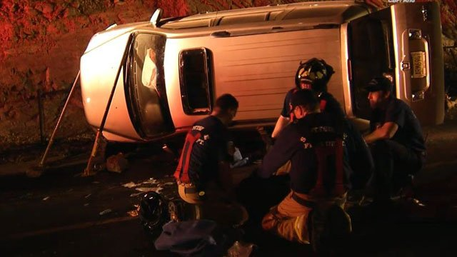 Teen trapped under vehicle in Scottsdale crash. (Source: CBS 5 News)