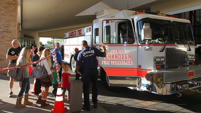 Chandler FD toy drive returns Dec. 14 to Chandler Fashion Center. (Source: Chandler Fire Department)