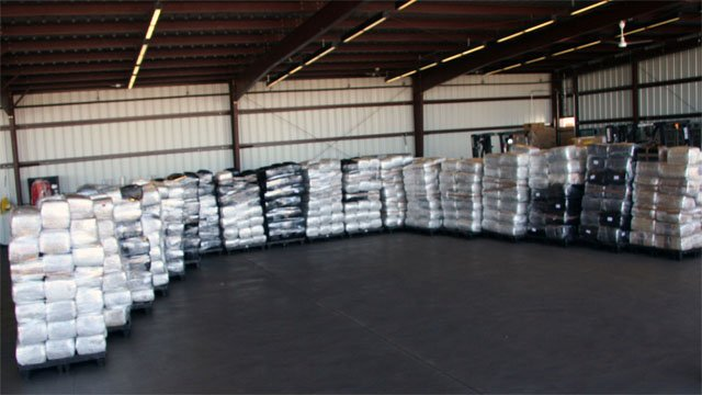 Federal officers counted 881 bundles of marijuana. (Source: U.S. Customs and Border Protection)