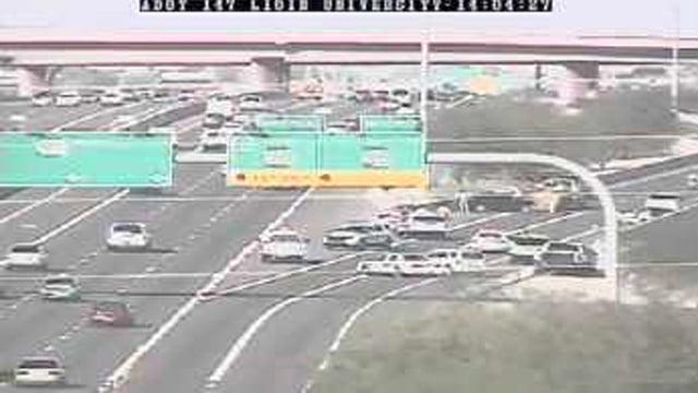 Phoenix-area freeway accident. (Source: CBS 5 News)