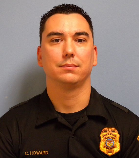 Glendale police patrol Officer Cody Howard. (Source: Glendale Police Department)