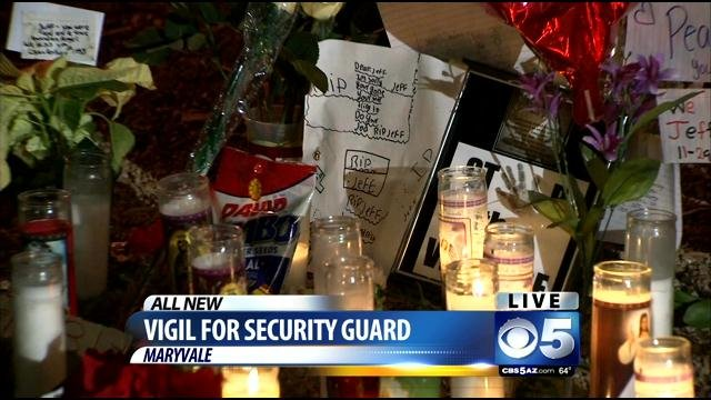 Saturday night's vigil. (Source: CBS 5 News)