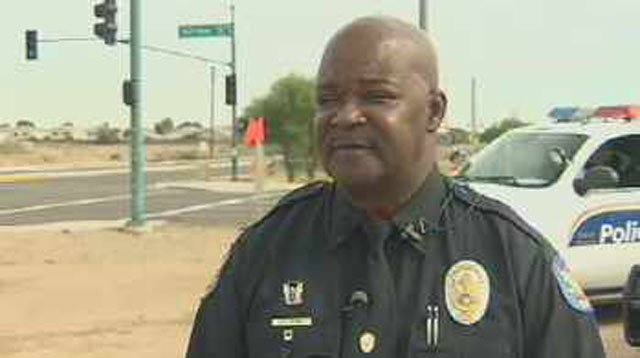Phoenix police spokesman Officer James Holmes. (Source: CBS 5 News)