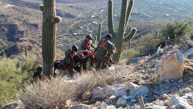 Mt. Lemmon rescue in Tuscon. (Source: U.S. Customs and Border Protection)