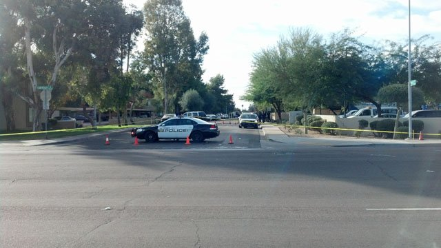 Christmas party shooting in Tempe leaves 1 dead, 1 wounded. (Source: Christina Batson, cbsaz.com)