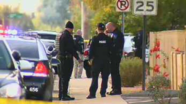 SWAT officers were called in to secure the area. (Source: CBS 5 News)