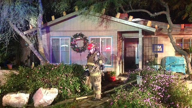 Phoenix fire investigators said the fire appeared to be electrical and started around 5 a.m. at the home near Osborn Road and 27th Street. (Source: Phoenix Fire Department)