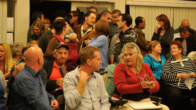 The Cottonwood City Council chambers were packed for Tuesday's hearing on same-sex civil unions. (Photo courtesy Michele Bradley)